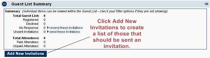 invitations empty